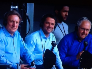 Three man commentary team