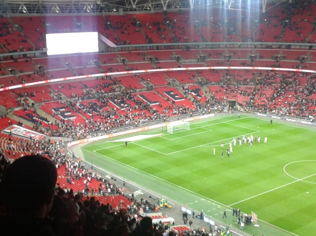Job done at Wembley. All the best to the boys heading to Brazil