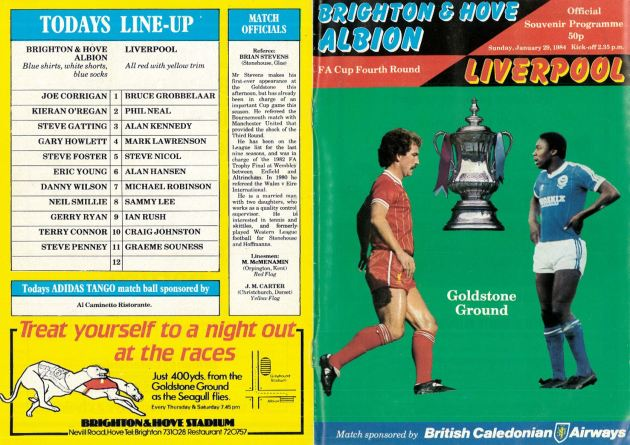 1984 programme cover