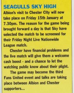 Chester programme
