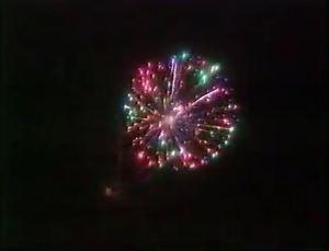 Protest fireworks