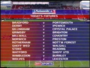 GRI Final Day Fixtures