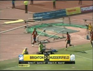 Huddersfield scoreline