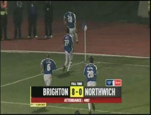 Northwich Scoreline