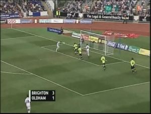 Oldham 1st goal